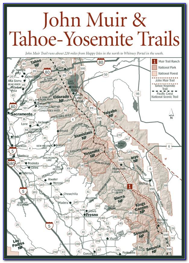 John Muir Trail Map Yosemite