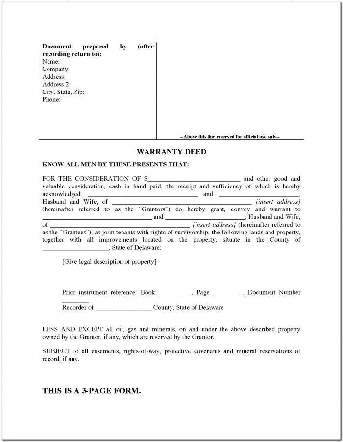 Joint Tenancy Deed Form Oklahoma