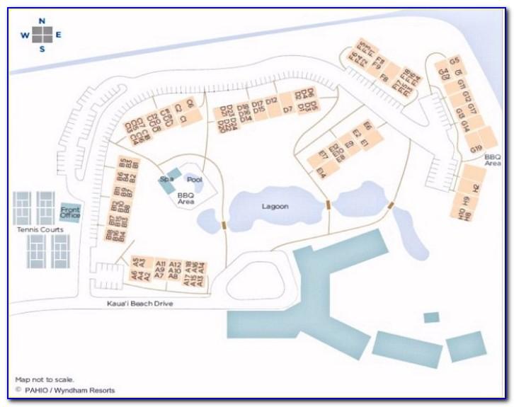Kauai Beach Villas Map