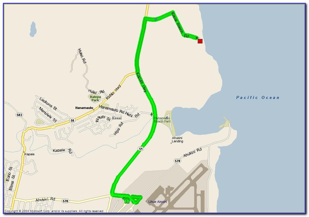 Kauai Beach Villas Resort Map