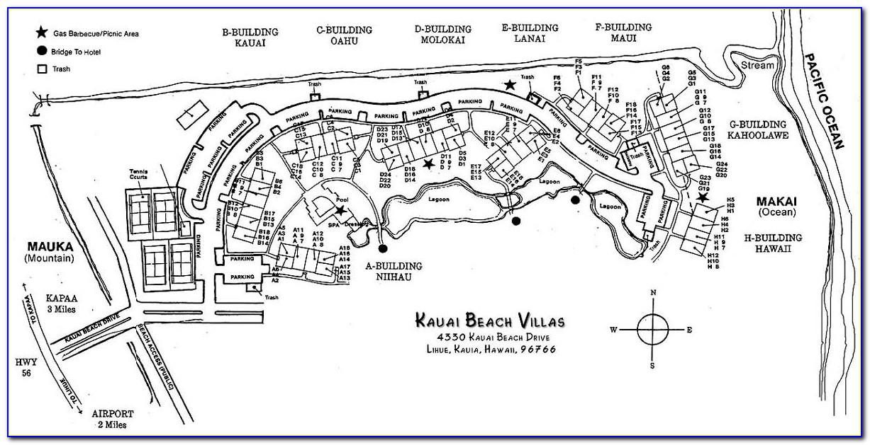 Kauai Beach Villas Site Map