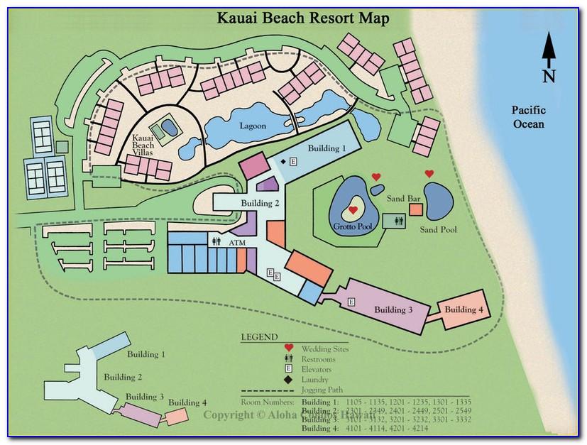 Kauai Beach Villas Unit Map