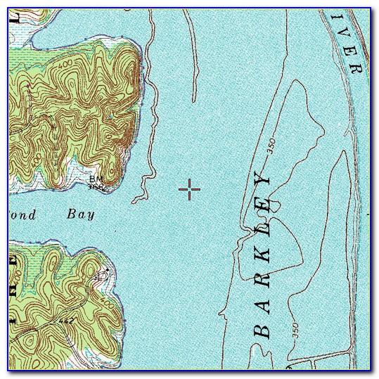 Kentucky Lake Depth Map