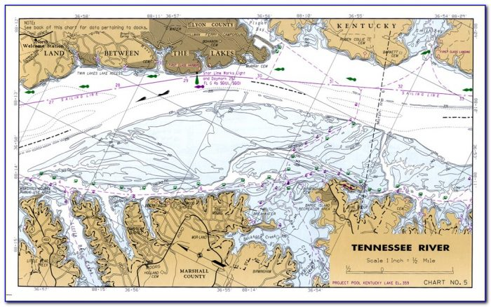 Kentucky Lake Maps Fishing Hot Spots