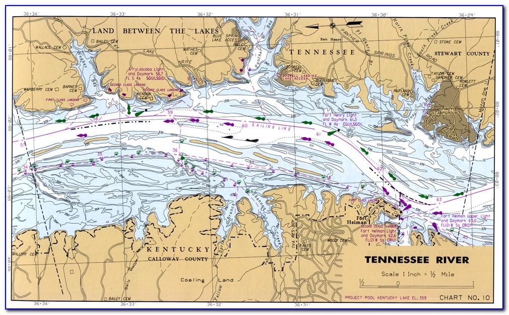 Kentucky Lake Topo Map