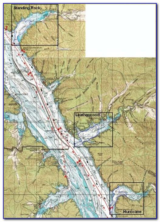 Kentucky Lake Water Depth Map