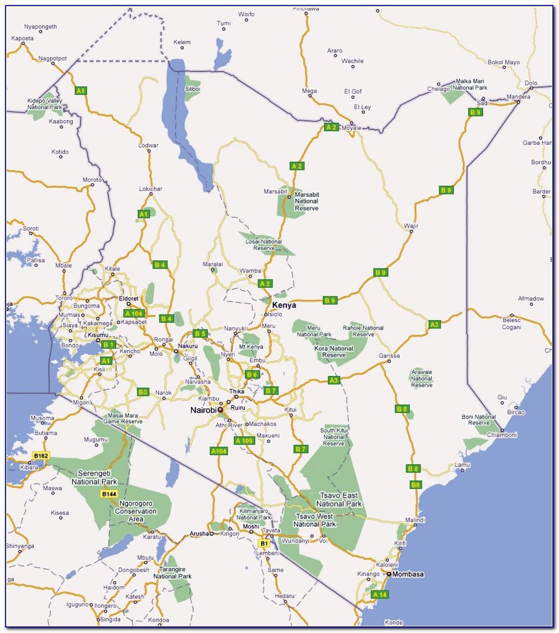 Kenya Road Maps