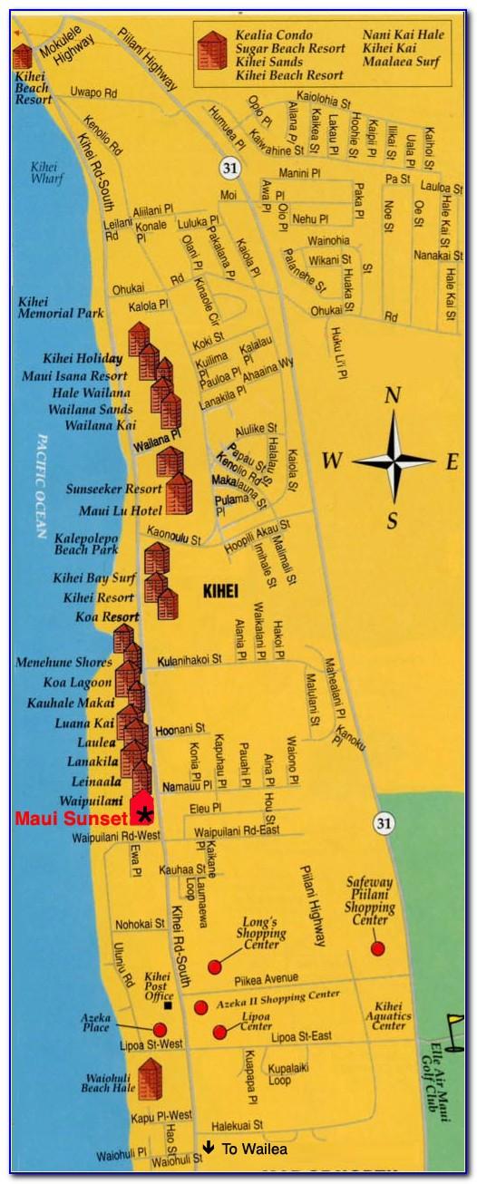 Kihei Accommodation Map