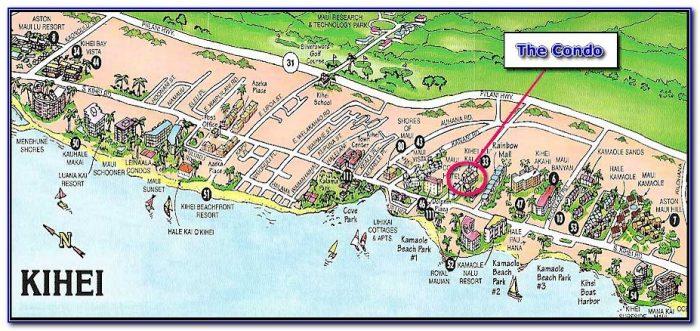 Kihei Hotels Map