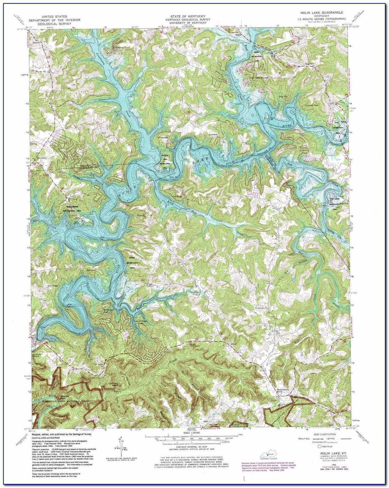 Ky Lake Topo Map