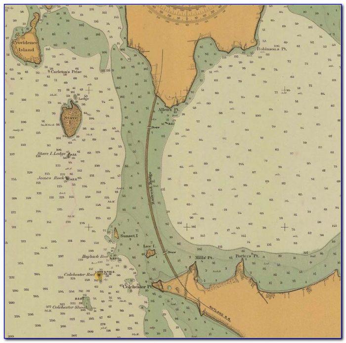 Lake Champlain Depth Chart Map