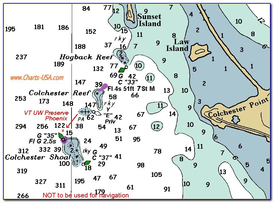 Lake Champlain Depth Map