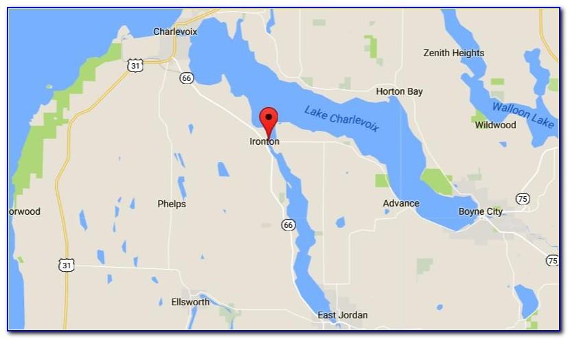 Lake Charlevoix Depth Map