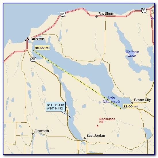 Lake Charlevoix Public Access Map