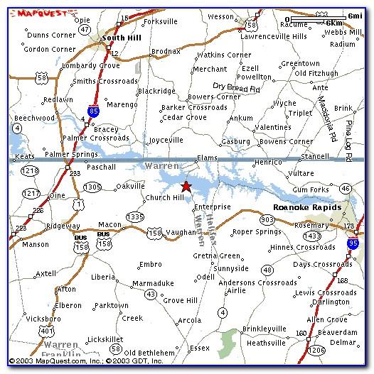 Lake Gaston Nc Map