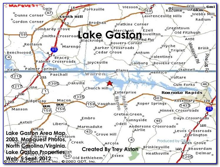 Lake Gaston Nc Mapquest