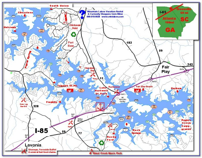 Lake Hartwell Sc Map