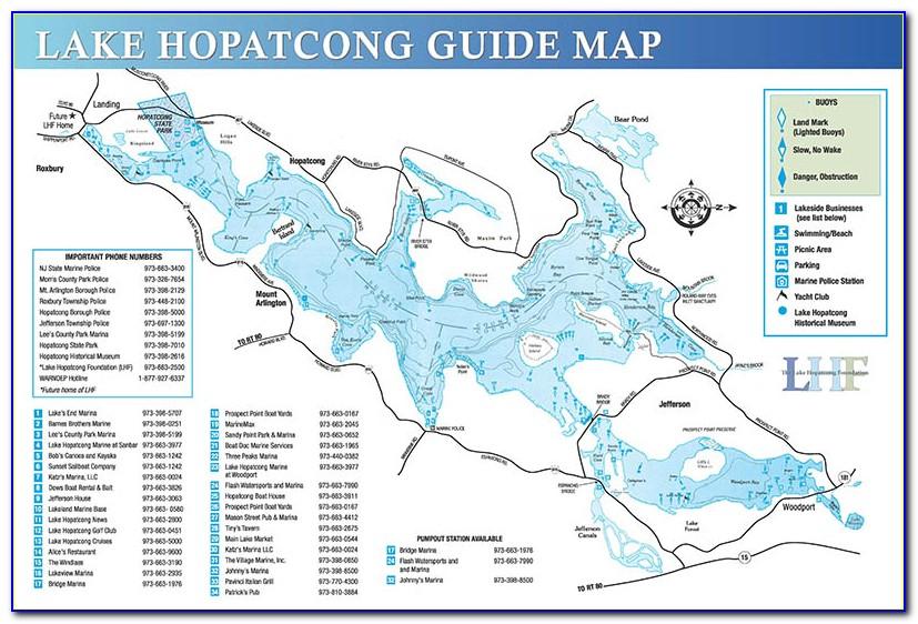Lake Hopatcong Map Depth