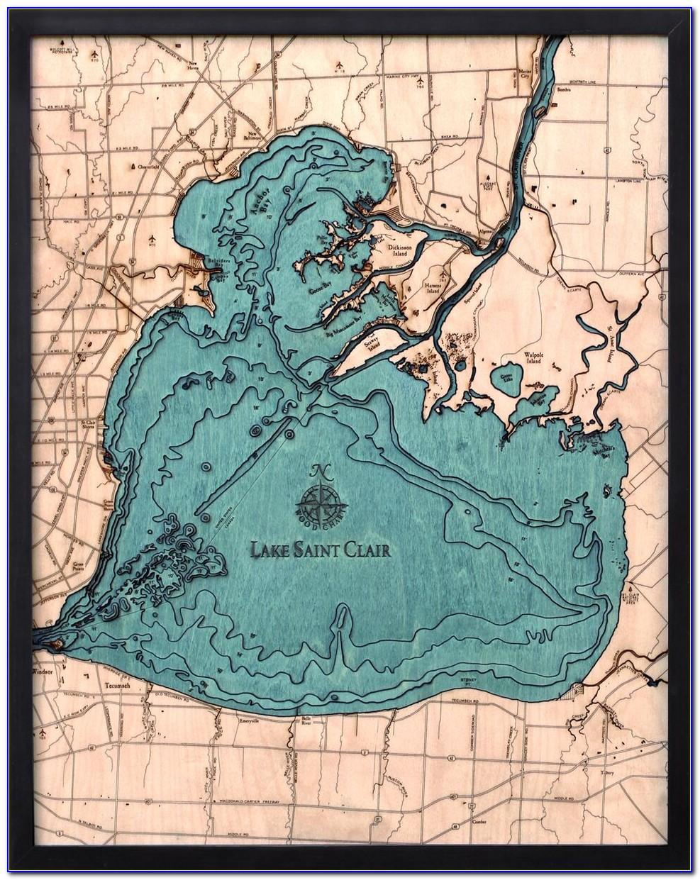 Lake Saint Clair Fishing Map