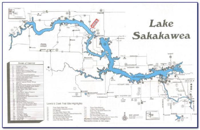 Lake Sakakawea Fishing Map