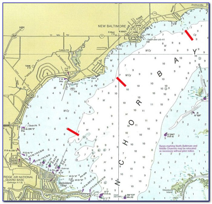 Lake St Clair Ice Fishing Map