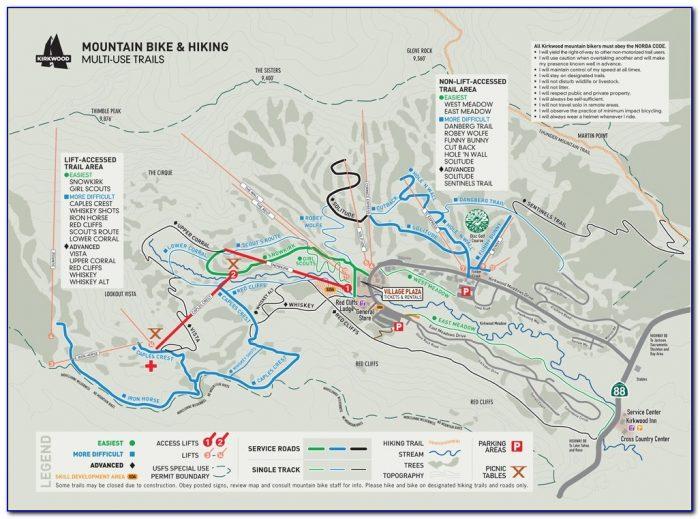 Lake Tahoe Bike Trail Map