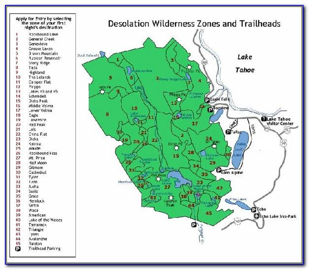 Lake Tahoe Hiking Map Pdf