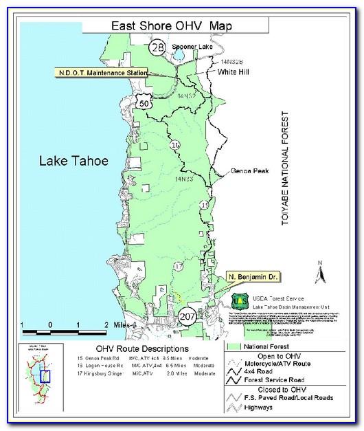 Lake Tahoe Rim Trail Map