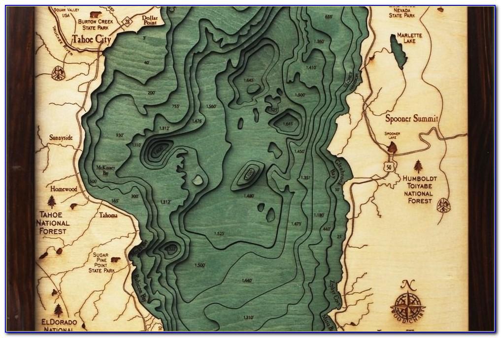Lake Tahoe Topo Map