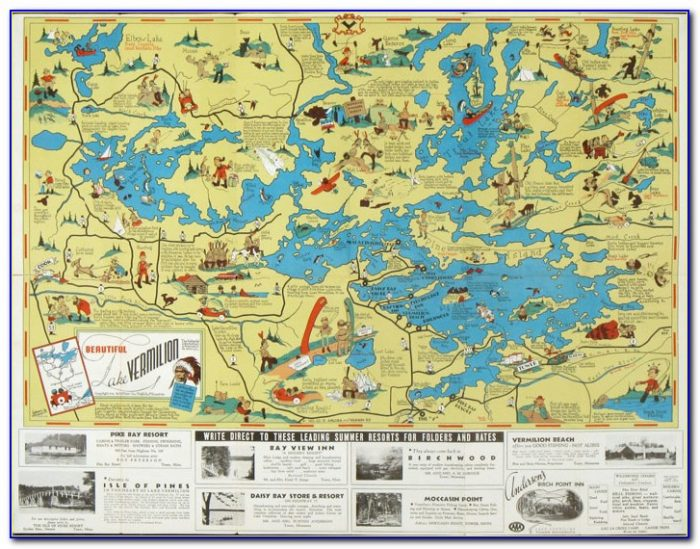 Lake Vermilion Mn Fishing Map
