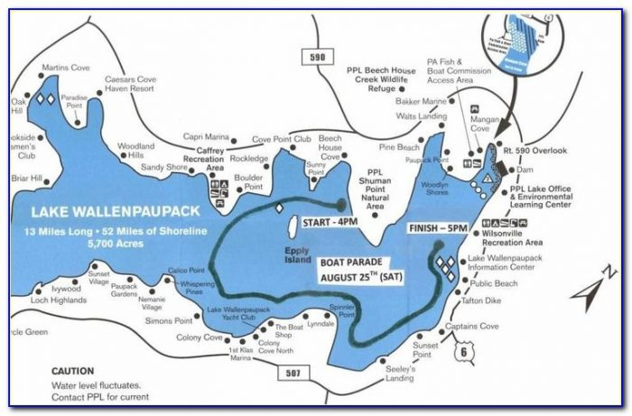 Lake Wallenpaupack Map Fishing