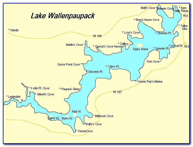 Lake Wallenpaupack Mapquest