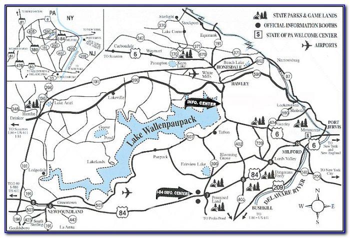 Lake Wallenpaupack Topographic Maps
