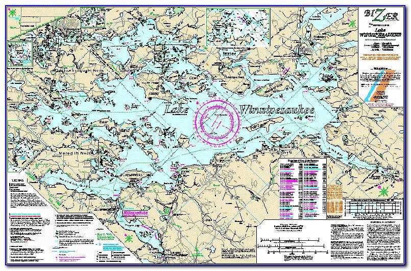 Lake Winnipesaukee Depth Map