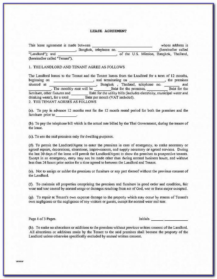Landlord And Tenant Rental Agreement Forms Ontario