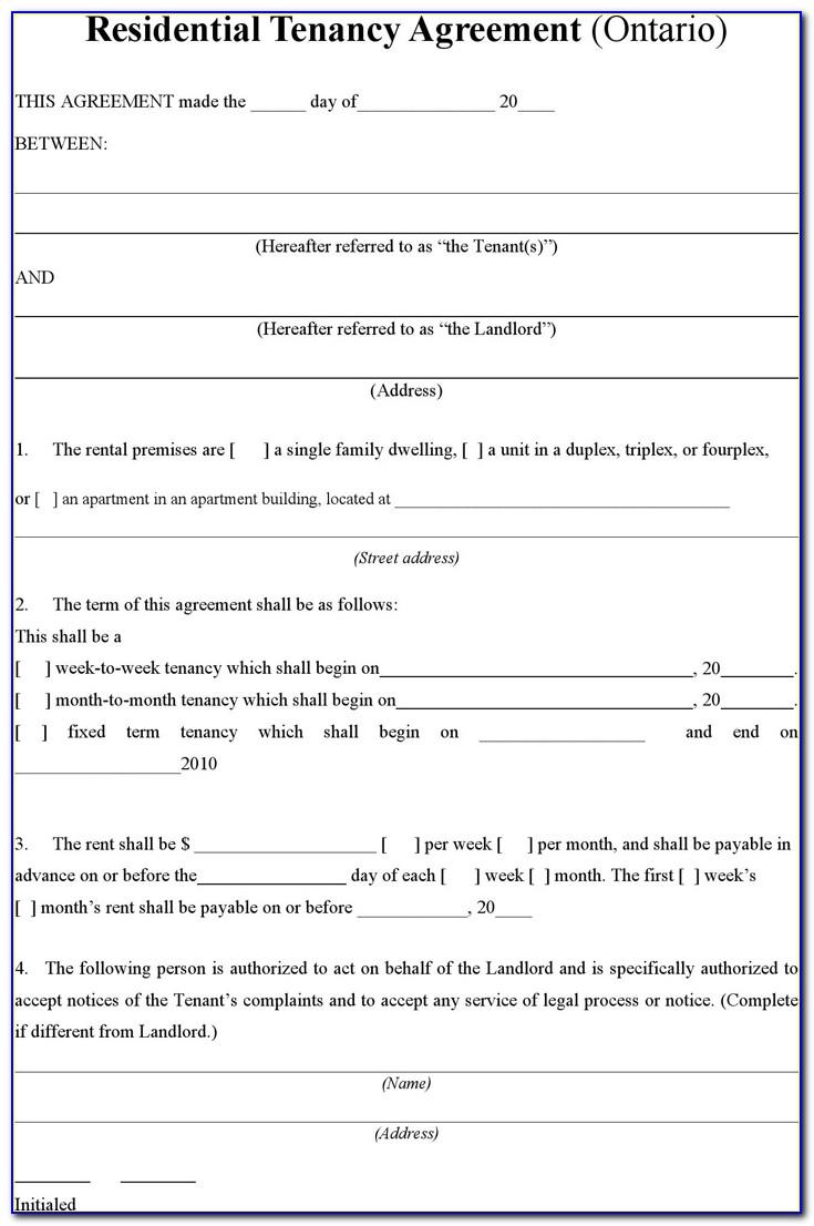 Landlord Rental Agreement Forms