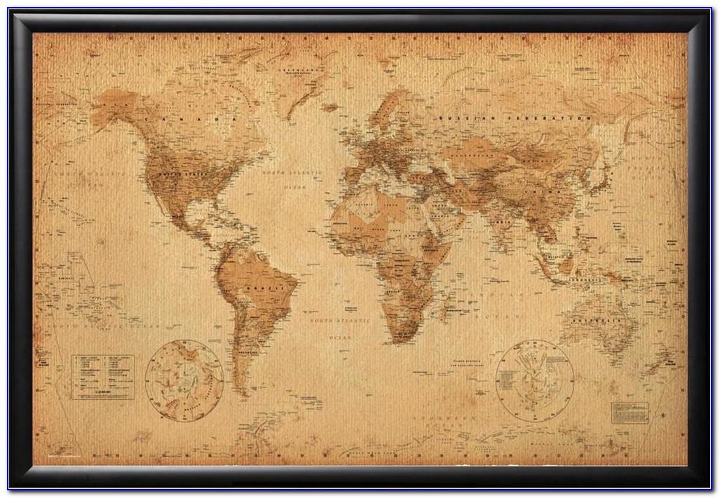 Large Framed Antique Maps