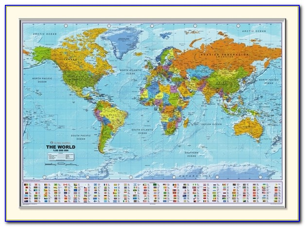 Large Pinnable World Map