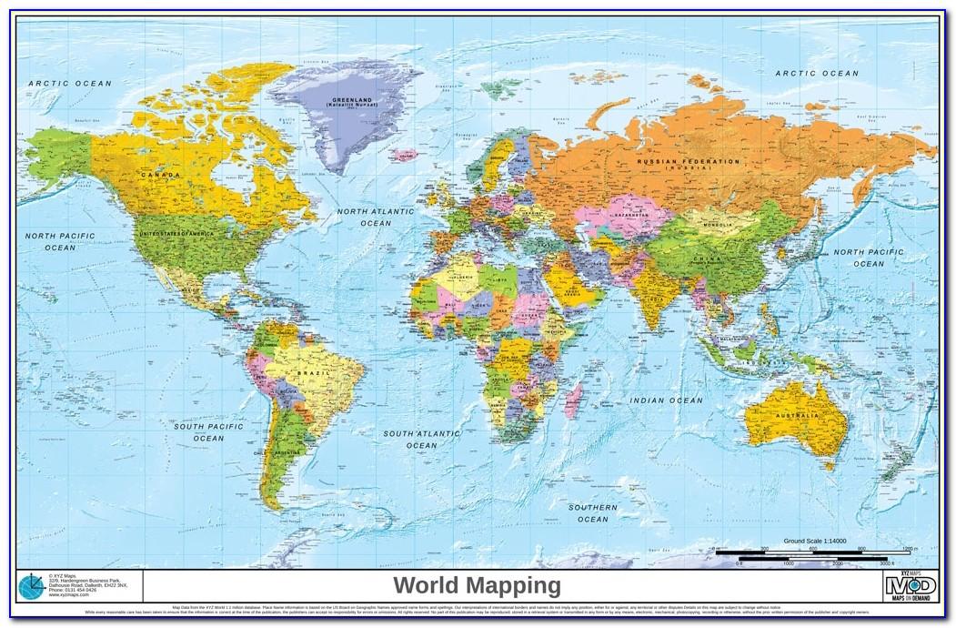 World Map Pdf World Detailed Map Detailed Map Of World Xyz World Political 1024 X 663 Pixels