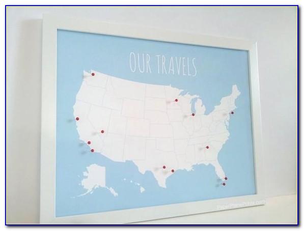 Large Push Pin Usa Map