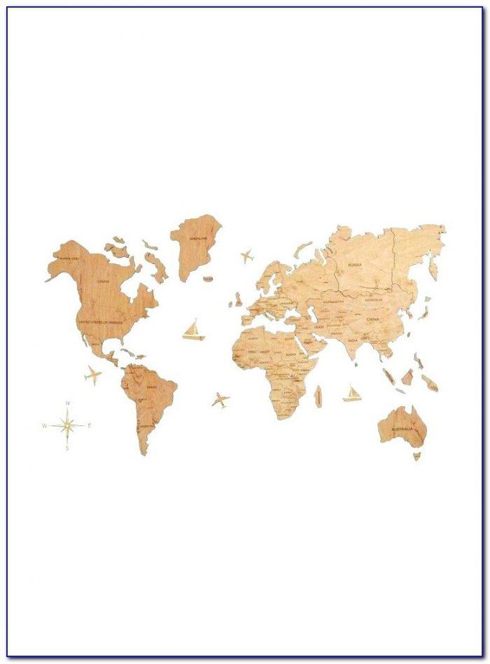 Large Push Pin World Map Uk