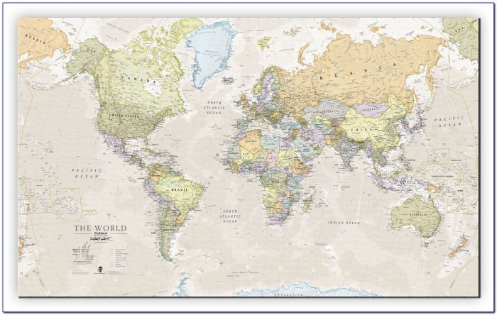 Large Classic World Map Canvas Giant World Map Canvas