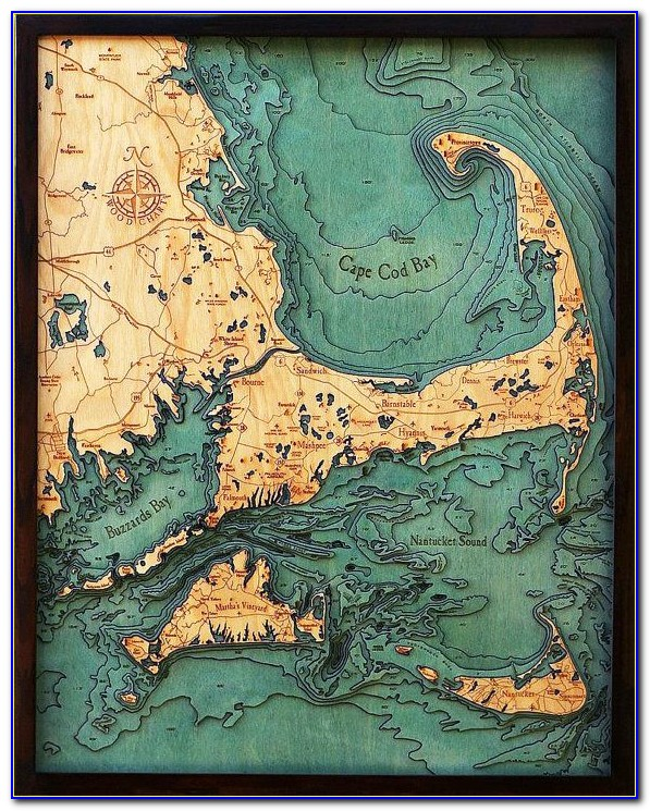 Laser Cut 3d Topographic Wood Maps