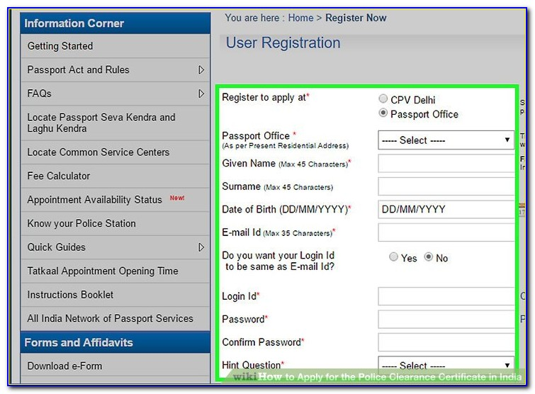 Laz Parking Job Application Form