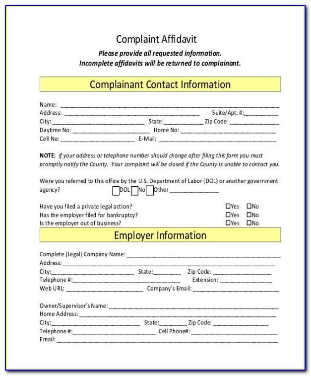 Legal Forms Affidavit Philippines