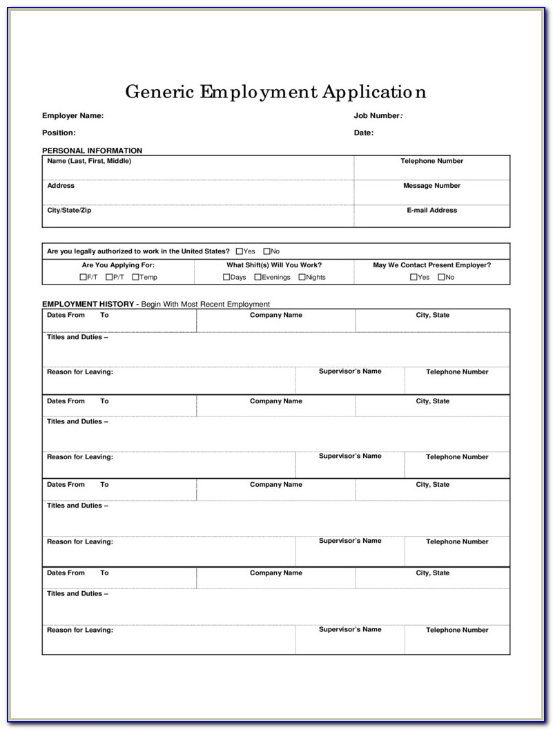 Basic Job Application Form 5 Free Templates In Pdf Word Excel Free Employment Application Pdf