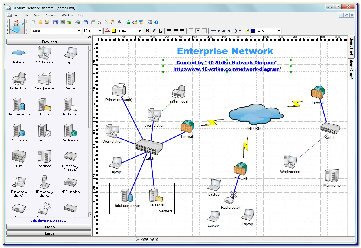Linux Map Network Topology