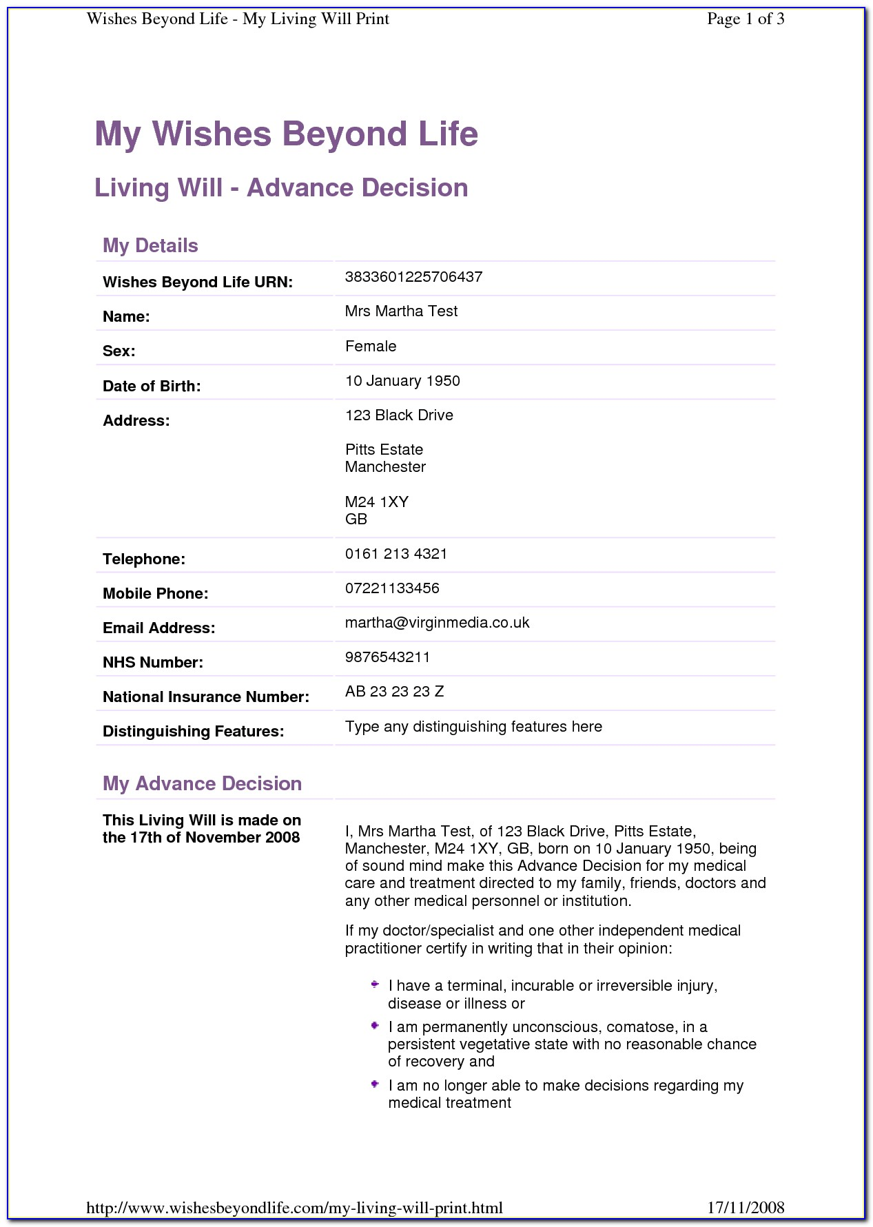 Living Wills Georgia Free Forms