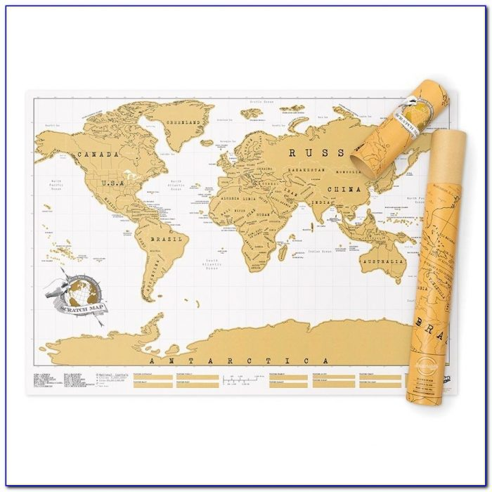 Luckies Scratch Map Uk