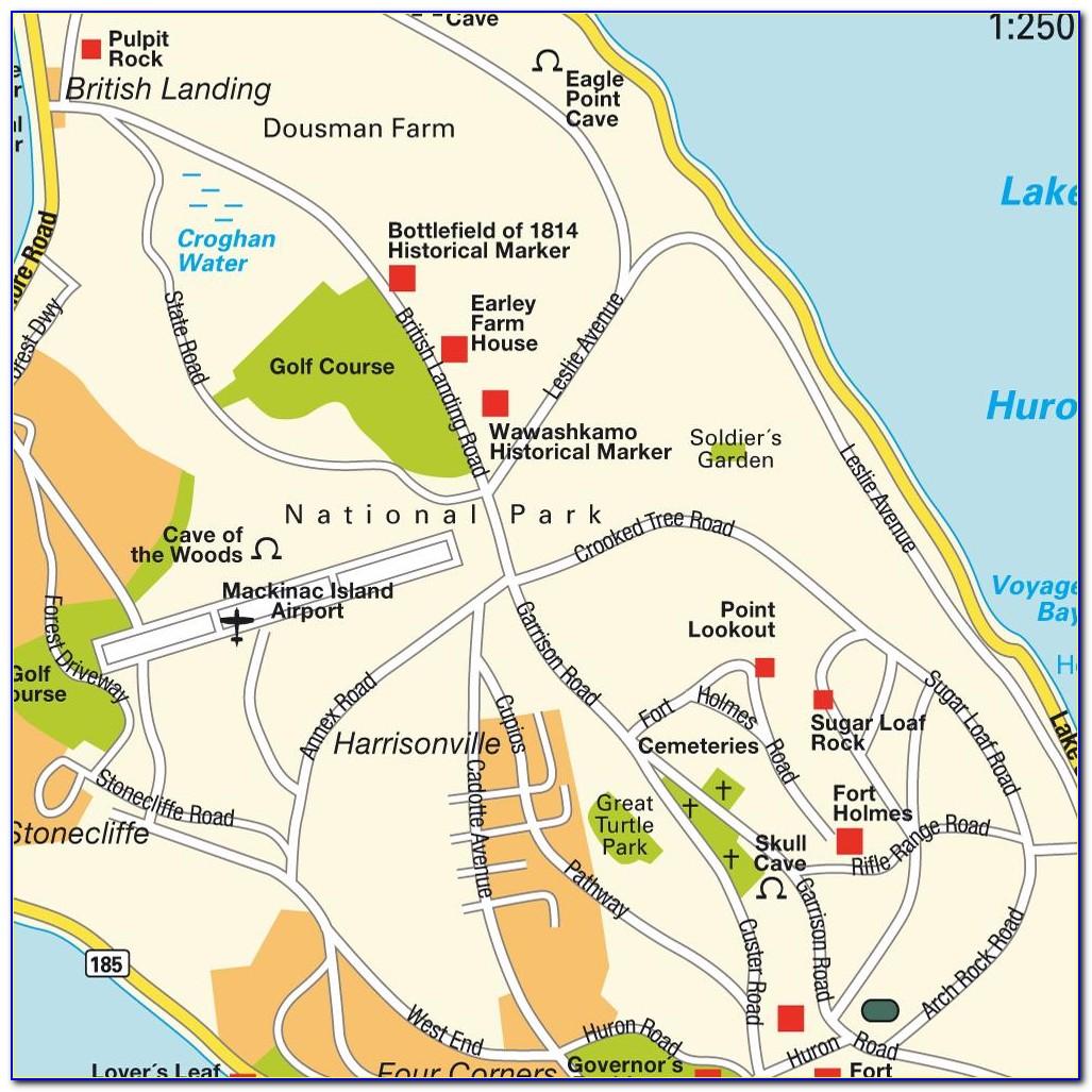 Mackinac Island Mi Map